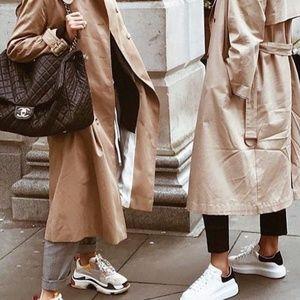 Classic Double Breasted London Fog Trench Coat